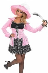 Pink Glitzy Pirate Costume (3229)